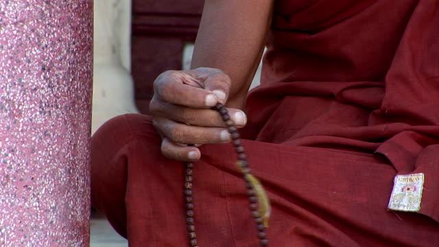 asian monk  praying video