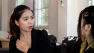 Asian Office Girl Listens To Coworker video