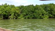Asian river from speedboat video