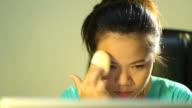 Asian teenage girl make-up video