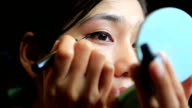 Asian woman eye make up video