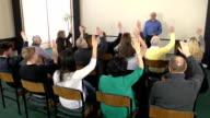Asking question at seminar Training event - CRANE HD video