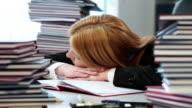 Asleep at work video