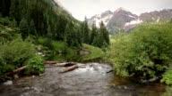 Aspen Maroon Bells Wilderness Peaks Colorado Rocky Mountains Lake LOOP video