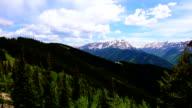 Aspen Wilderness National Forest Land Time-Lapse of Epic Elk Mountain Valley on Top Aspen Ski Resort video