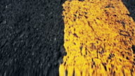 Asphalt speed with yellow driving line video