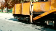 asphalt spreader video
