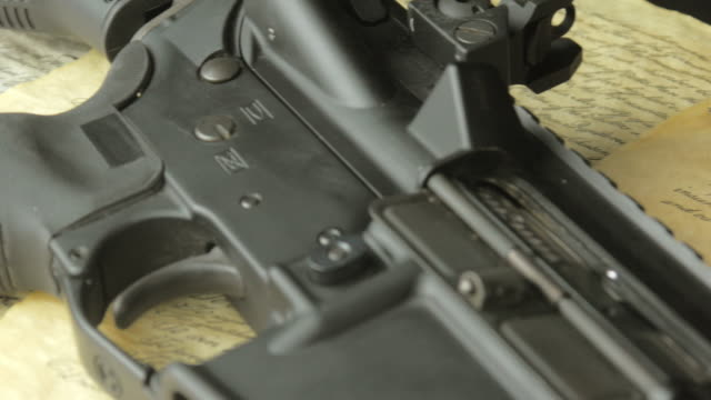 Assault Rifle with the US Constitution and Ammunition video