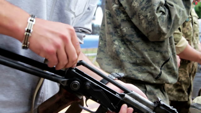 Assembling the Machine in the Hands of a Soldier video