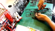 Assembling the plastic model kits. video