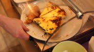 Assorted quiche served on a plate video