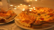 Assorted quiches served on a plate video