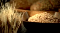 assortment of grains and bread video