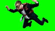 Assured Businessman Parachuting video