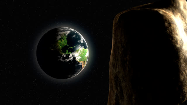 Asteroid Approaches Earth video