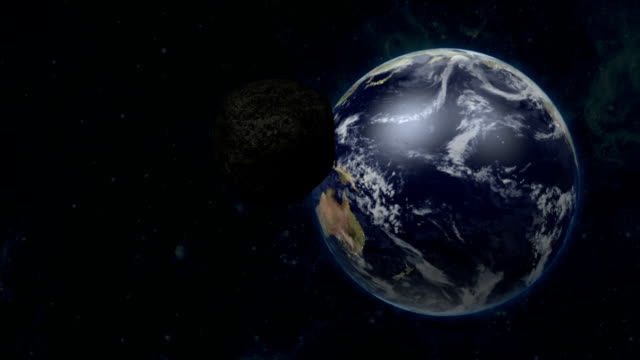 Asteroid Flies To The Earth video