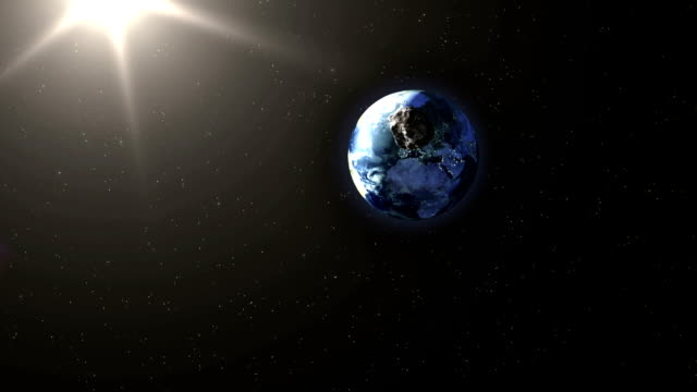 Asteroid Hitting Earth video