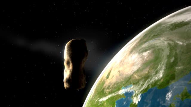 Asteroid Over Earth – Northern Hemisphere video