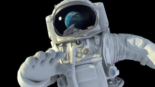 Astronaut in open space video