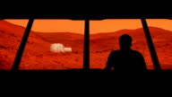 Astronaut Looks Out At Mars Base video