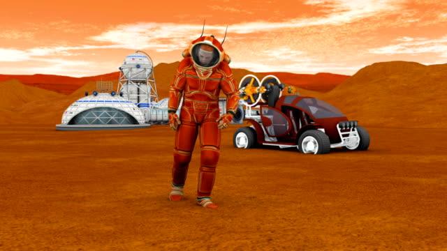 Astronaut on Mars video