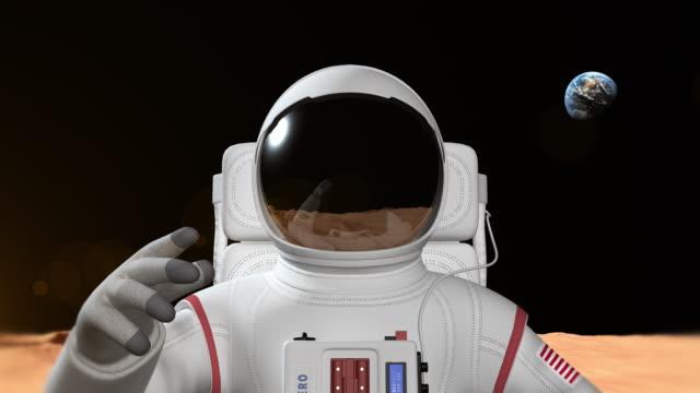 Astronaut On The Mars Surface video