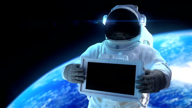 HD: Astronaut with display video