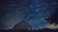 Astronomical Observatory At Night - Stars Moving On The Background video