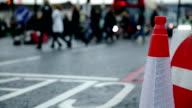 At London street. Cars stop at crosswalk video