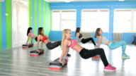 At the fitness club video