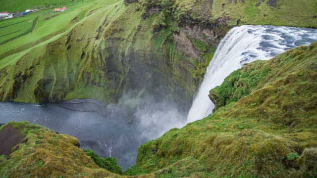 At the top of Iceland's waterfall Skogafoss video