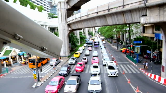 CCTV at the Traffic crossroad video