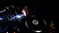 DJ at turntable video
