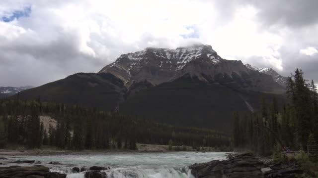 Atabasca Fall in Jasper National Park video