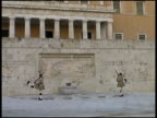 Athens: Changing Of The Guard: Evzones Guards at Parliament.  Greece video