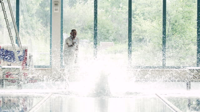 Athlete in water video
