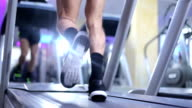 Athlete running on treadmill video