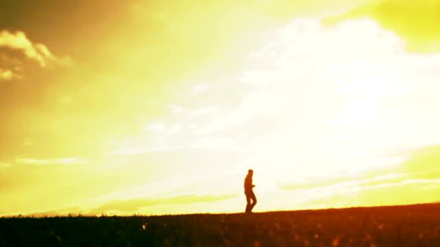Athlete Summer Run Silhouette Sunset Active Energy Concept video