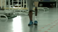 Athlete with prosthetic leg video