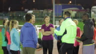 Athletes Socialising Before a Training Session video