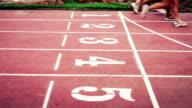 Athletes sprinters video