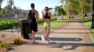 Athletic Couple Jogging Slow-Motion video