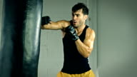 Athletic Male Boxing Slow Motion video