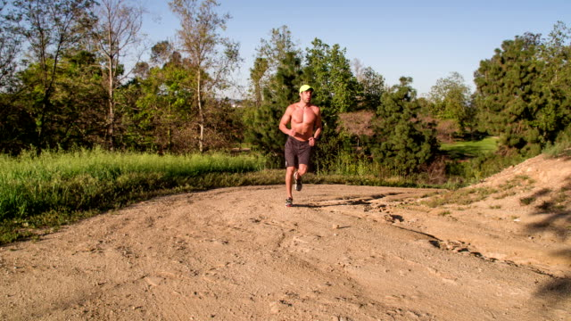 Athletic Male Running Slow-Motion video