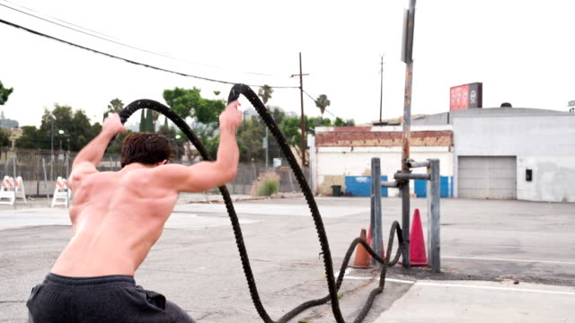 Athletic Male Workout gym Slow-Motion video