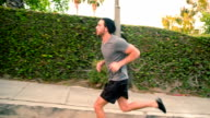 Athletic Male Workout Running video