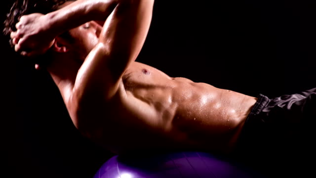 Athletic Male Workout Sit-Ups video