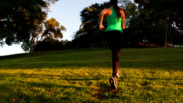 Athletic Woman Running Slow-Motion video