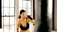 Athletic Woman Workout gym Slow-Motion video