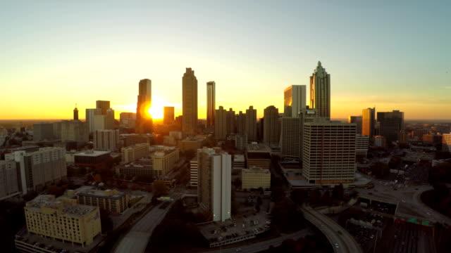 Atlanta Aerial City Fly Through video